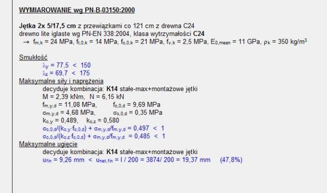 Jetka dwugałeziowa 3 przewiązki 2x50x175