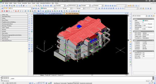Cieniowanie ZWCAD Architecture